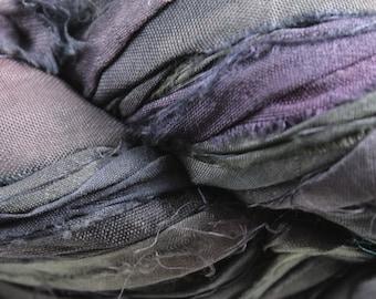Recycled Sari Silk Ribbon - Twilight