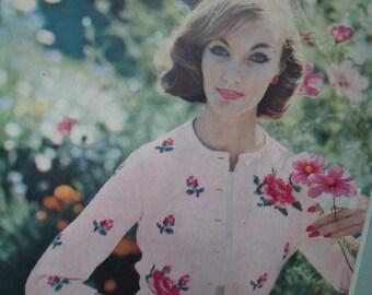 Vintage Vogue Knitting Book No 52 - 1950s knitting patterns 50s original patterns women's sweaters cardigans dress
