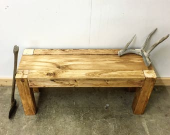 The Winifred - Rustic Modern Bench - Handmade in USA