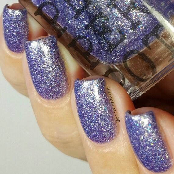 Lilac Periwinkle Glitter Nail Polish Bath And Beauty Pepper