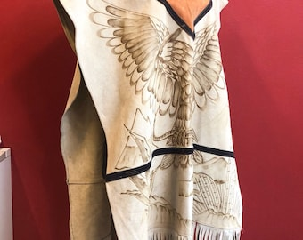 Amazing native Americans real suede poncho