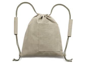 Turnbeutel / Olive Coloured Bag / Olive Farbig Beutel / Gymbag
