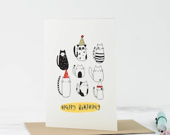 Cat birthday card - Funny birthday card - crazy cat lady - Friend Birthday Card - Card for her