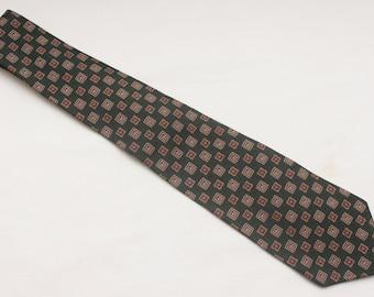 """90's Vintage """"TOMMY HILFIGER"""" 100% Silk Patterned Designer Neck Tie"""