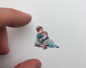 Miniature Painting of children by Brooke Rothshank