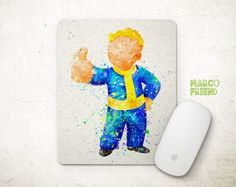 Fallout 4 Vault Boy Watercolor Art Mouse Pad - Mousepad - Office Decor - Gifts - Desk Decor - Kids Decor - Fallout Accessories - P357