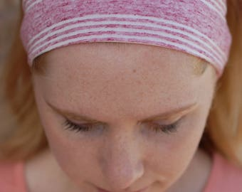 Pink Striped Headband