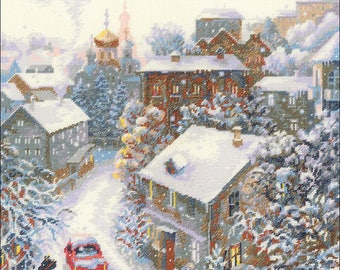 "Snowy Winter-RIOLIS Counted Cross Stitch Kit 11.75""X11.75"" (Pre-Order)"