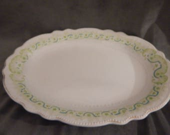 Antique W. H. Grindley Gold Trim Clover Pattern Plater