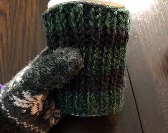 Crochet Coffee Cozy, Eco Friendly, Cup Cozy, Cozies