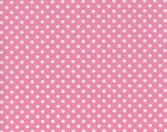 SALE! Pink Polka Dot Fabric Baby Girl Nursery Fabric - Galaxy Tweetie Pie Print - 100% Cotton - By the Yard