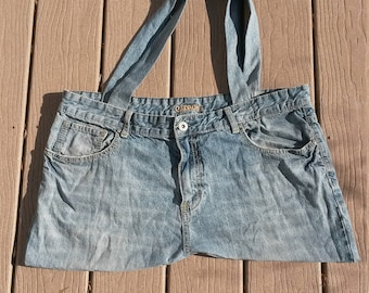 Recycled Blue Jean Purse