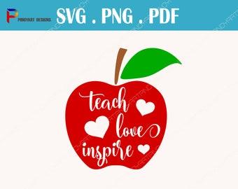 teacher svg, teacher svg, teaching svg, teach love inspire svg, teacher svg file, teaching svg file, apple svg, apple svg file, svg,svg file