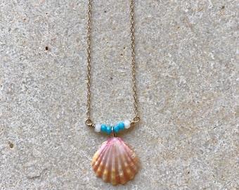 Tiny Sunrise Shell Necklace