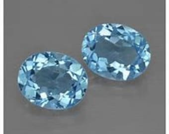 5 pieces natural  sky blue topaz faceted oval gemstone