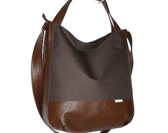 5463, dark brown bag, dark brown crossbody bag, dark brown shopperbag, xxl bag dark brown, dark brown crossover bag, dark brown hobo bag