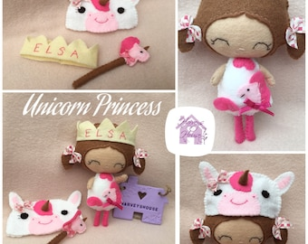 Unicorn Princess Collectable Doll