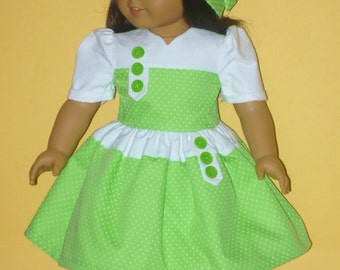 School Dress and Hat in 1934 Style Fits American Girl Doll Kit