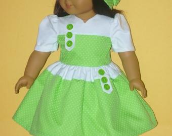 L'école robe et chapeau en 1934 Style convient à Kit de poupée American Girl