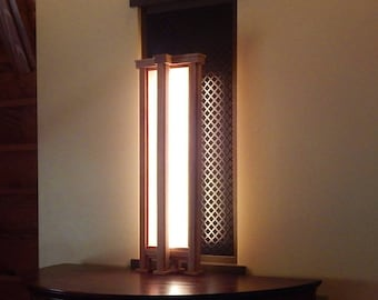 Modern   Mission   Arts and Crafts   Decorative Oak LED Accent Lamp