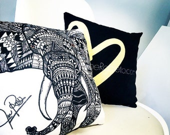 """Limited Edition """"Vera's Elephant"""" pillow 14x14"""