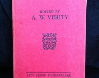 Vintage Shakespeare's KING LEAR from 1947 -  from Market Bosworth Grammar, Leics