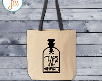 Tears of the Patriarchy Poison Bottle Tote Bag