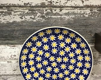 Polish Pottery 10 inch Dinner Plate