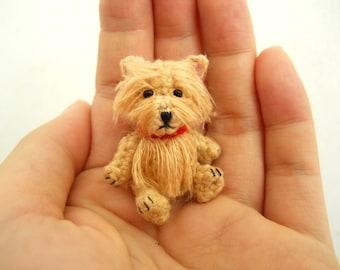 Cairn Terrier - Crochet Miniature Dog Stuffed Animals - Made To Order