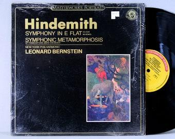 Hindemith - NY Philharmonic, Leonard Bernstein - Symphonic Metamorphosis Of Themes By Carl Maria Von Weber - Vintage Vinyl LP Record Album