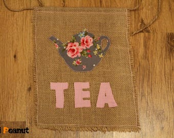 Vintage Tea Banner-pennant-garland-photo prop-backdrop-wall decor-high chair decoration-decoration-party-girl-one-two-birthday-tea-rustic