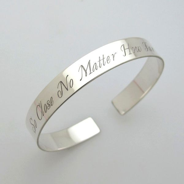 personalized bangles bangle silver customized engraved diamond cut bracelets baby engravable sterling
