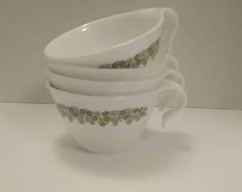 Corelle Crazy Daisy Coffee Mugs/Tea Cups