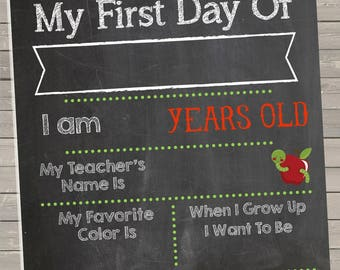 First Day of School Printable 8x10