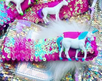 Soft sequined unicorn head band