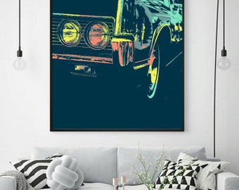 Vintage Car popart- downloadable digital art file