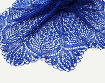 Knit shawl, knit scarf, crochet shawl, knitted scarf, shawl of mohair, knitted shawl,delicate shawl, blue shawl, lace shawl, hand knit shawl