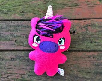 Unicorn Stuffed Animal - Handmade - Plush Unicorn - Baby Unicorn - Kawaii - Gift for Kids - Unicorn Gift - Personalized - Christmas Gift