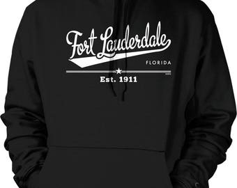 Fort Lauderdale, Florida, Est. 1911 Hooded Sweatshirt, NOFO_01170