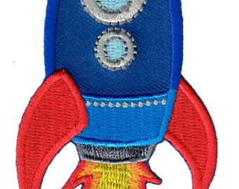 Rocket Iron-On Applique Patch - Kids / Baby