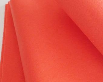 Fieltro de color coral, rollo fieltro, Tamaño 25 cm x 90 cm, fieltro muy suave al tacto, fieltro acrilico, fieltro de gran calidad