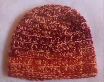 half price skull hat in shades of orange
