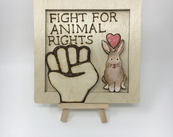 Animal Rights Wall Hanging