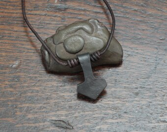 Small Iron Thor's hammer Pendant