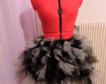 Bouffant Carnival Creepy Gothic black sequin Princess Tulle Tutu skirt