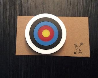Archery Target Brooch