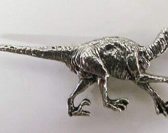 Pewter - Velociraptor - Lapel Pin/Brooch - A188,AC188,AP188A
