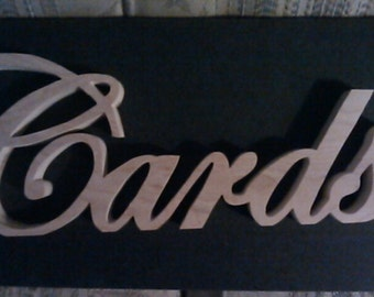 Cards sign, wedding cards sign, reception sign, cards and gifts sign, wood sign