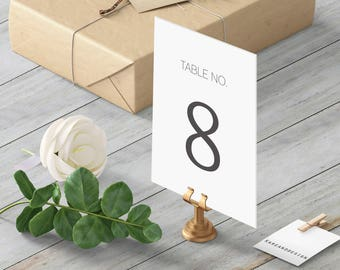 Wedding Table Numbers, Classic Table Numbers, Modern Table Numbers, 5x7, 4x6, Table Numbers Printable Template, Instant Download, Elegant