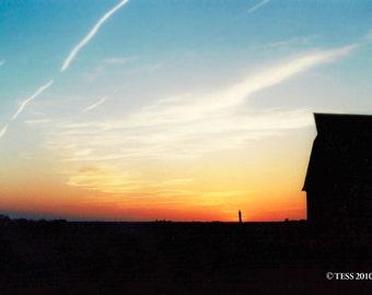 Sunset Barn Photography Print - Nature - Country Barn - Farm Scene Photography -  Landscape
